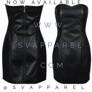 ZARA basic Faux Leather mini dress NWOT